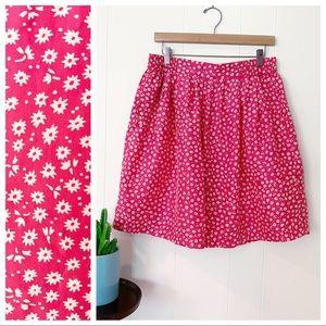 VTG 90s Silk Exchange Pink Floral Culottes